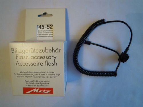 METZ 45-52 SPIRAL SYNCHRO CORD 45 CT 1 FLASH ACCESSORY